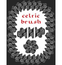 celtic brush for frame vector image vector image