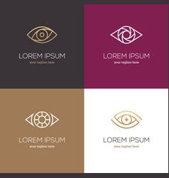 four linear eye logo vector image