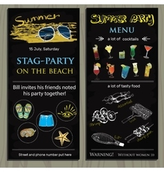 stag-party invit on the beach Holiday vacation vector image vector image