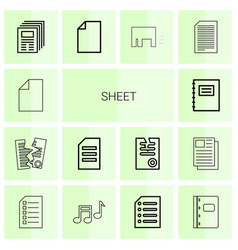 14 sheet icons vector