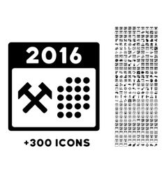 2016 Working Days Icon vector
