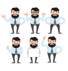 A businessman teacher man with beard vector