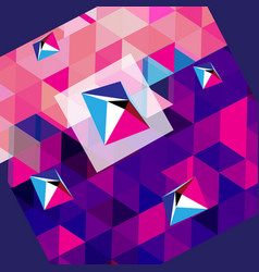 abstract background with polygons and rhombuses vector image