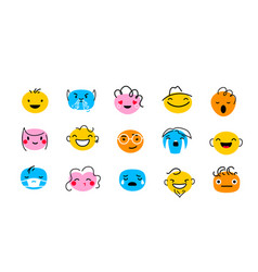 Abstract face characters vector