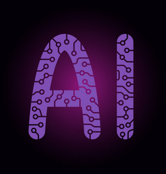 Ai letters artificial intelligence easy to use vector