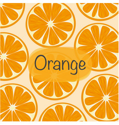 background with orange vector image