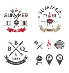 Barbecue logo vector