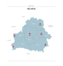 Belarus map with red pin vector