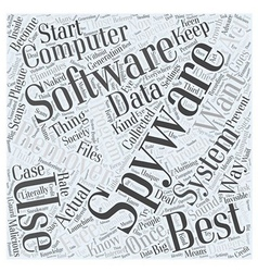 Best Free Spyware Remover Word Cloud Concept vector image