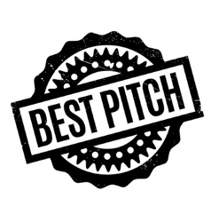 Best Pitch rubber stamp vector