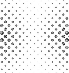 Black and white circle pattern background vector