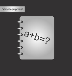 Black and white style icon of math book vector