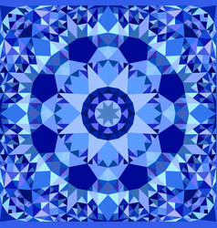 blue abstract seamless triangle mosaic tile vector image