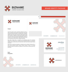 bones business letterhead envelope and visiting vector image