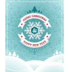 Christmas with typographic design and vector