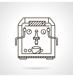 Classic coffee machine flat line style icon vector