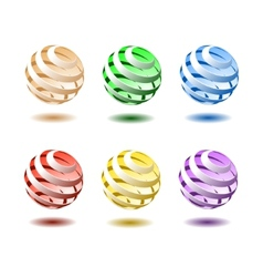 Colourful balls vector