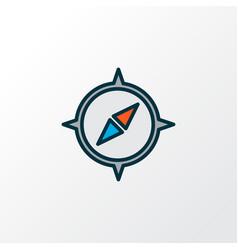 compass icon colored line symbol premium quality vector image