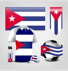 Cuba country flag place on t-shirt lighter soccer vector