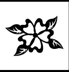 Cute flower decorative icon vector