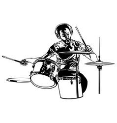 Drummer sketch drawing vector