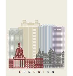 Edmonton skyline poster vector