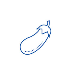 eggplant line icon concept eggplant vector image
