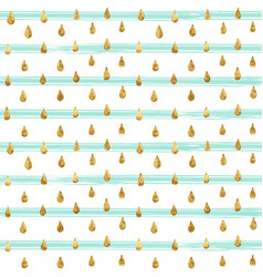 gold glitter seamless pattern striped background vector image