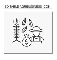 Grains farming line icon vector