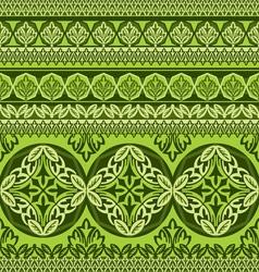 green flower ornament vector image