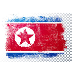 grunge and distressed flag north korea vector image