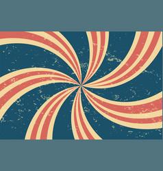 grunge retro twirl spiral line pattern background vector image