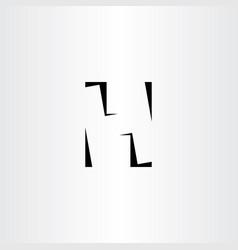 H logo letter negative space black icon vector