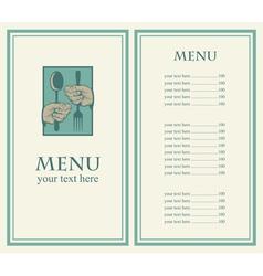 hand menu vector image