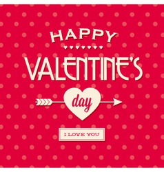 Happy valentines day card retro vintage vector