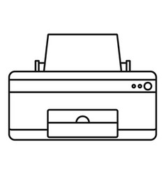 home printer icon outline style vector image