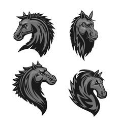 Horse head heraldic emblem vector