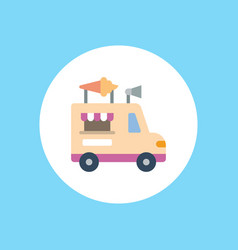 ice cream van icon sign symbol vector image