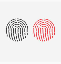 id app icon fingerprint for identification flat vector image