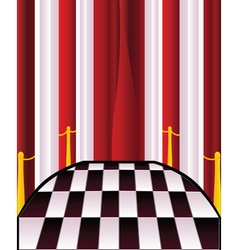 Interior with Red Curtains2 vector