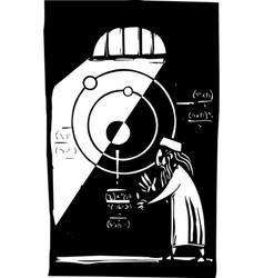Islamic astronomer vector
