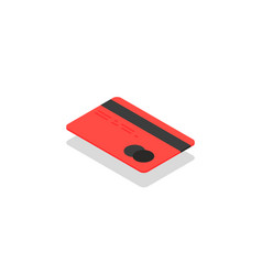isometric credit card icon vector image