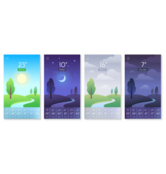 landscape for weather app beautiful daytime sky vector image