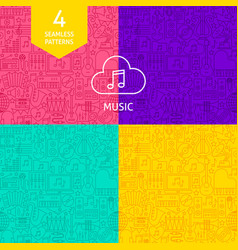 line music patterns vector image