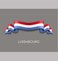 Luxembourg flag wavy ribbon background vector