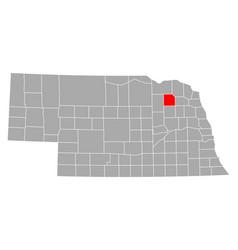 Map pierce in nebraska vector