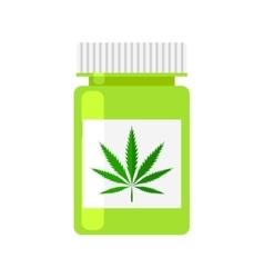 Medicine cannabis bottle vector