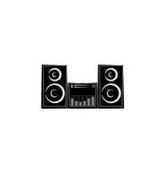 music center icon stereo system audio system vector image