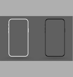 new mobile smartphone mockup template vector image