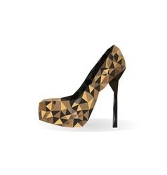 Origami leopard print shoe vector